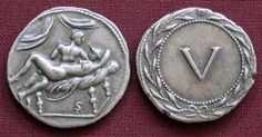 "Ancient Roman ""Sprintiae"" coins used for payment in brothels"