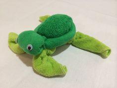 Washcloth - Turtle http://PhenixDesigns.wix.com/home #Turtle #Washcloths #Washagami #DiaperCake #BabyShower #PhenixDesigns #Phoenix888Designs