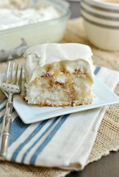 Apple Pie Poke Cake