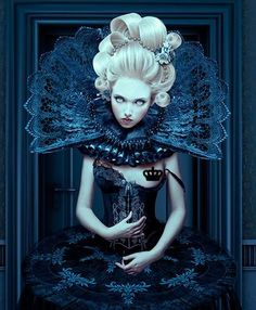 "Image detail for -Mystic Blood: Gothic & Surreal Art: ""Blue"", Natalia Shau Queen Dark Beauty, Mode Rococo, Instalation Art, Gothic Art, Gothic Images, Poses, Surreal Art, Marie Antoinette, Goth Girls"