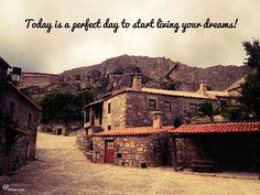Sunday night inspiration: Inspiração de domingo à noite: 'Hoje é um dia perfeito para começar a viver os seus sonhos!'