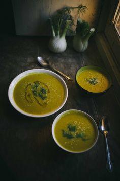 Fennel, leek and apple soup-Crema-de-hinojo-y-puerro- Food Styling-Food photography