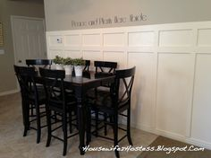 Housewife 2 Hostess : DIY Board and Batten Condo Living, Apartment Living, Floor Molding, Kitchen Storage Containers, Living Room Decor Inspiration, Board And Batten, Wall Treatments, Home Projects, Diy Furniture
