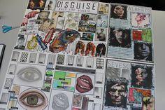 A Level Art Sketchbook, Sketchbook Layout, Sketchbook Inspiration, Mind Map Art, Mind Maps, Disguise Art, Creative Mind Map, Pop Art, Book Presentation