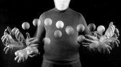Stroboscopic photo of a juggling motion by Gjon Mili