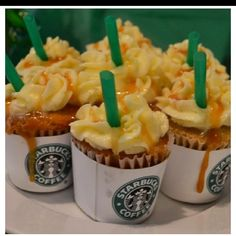 Starbucks cupcakes. def gonna make these for babygirls couture party