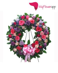 In Offers Same Day Online Mixed Roses Wreath Delivery India At The Best Prices For Valentines Birthday Anniversary Mothers And Festivals