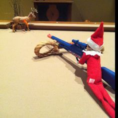 Image result for elf on the shelf hunting clothes