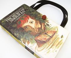 Book Purse made from a vintage Nancy Drew book called The Secret of Mirror Bay by Carolyn Keene, copyright 1972 (which is printed on the inside of