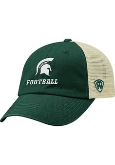 newest 35efb 0bf3e Top of the World Michigan State Spartans Football Dirty Mesh Adjustable Hat  - Green, Green, COTTON POLY BLEND, Size ADJ