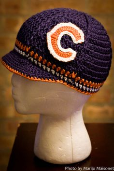 Chicago Bears Inspired Crocheted Baseball Cap Teen by TheHookUp