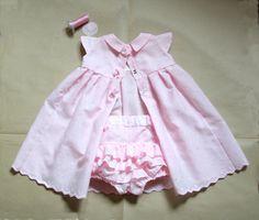 Set-Pink eyelet lace Baby girl  Dress & Diaper Cover-Christening-Baptism-Newborn-Infant-Flower Baby Girl https://www.etsy.com/shop/PABUITA