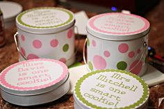More of the cookie tins made with the Silhouette Cameo :)