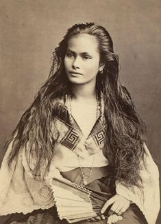 Stunning 19th century beauty; Asian or Pacific rim ...