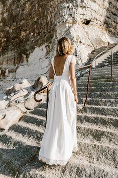 Robe de mariée 2019 : une robe de mariée dos nu rétro Lorafolk