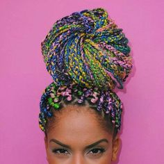 50 Box Braids Hairstyles That Turn Heads - great style ideas and this multicolor candy hair is everything!