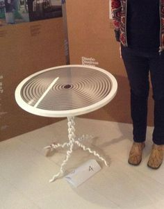 experimental and unpretentious result of collaboration between design and craftsmanship #basquecrafts # holography table