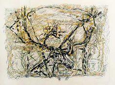 """Jean Paul Riopelle,Caribou, 1976, Lithographie sur papier Arches, 23"""" x 30"""""""