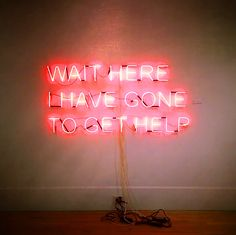 Tim Etchells: Wait here