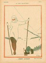 Ben Sussan 1917 La Paix Helvetique Winter Sport Skiing
