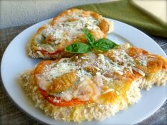 Weight Watchers Easy Healthy Baked Chicken Parmesan is always a winner. 297 Calories + 8 Weight Watchers Points Plus. http://simple-nourished-living.com/2012/09/weight-watchers-easy-healthy-baked-chicken-parmesan/