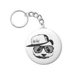 Ghetto panda basic round button keychain