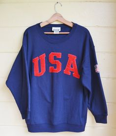 Vintage Pull Over USA Sweatshirt