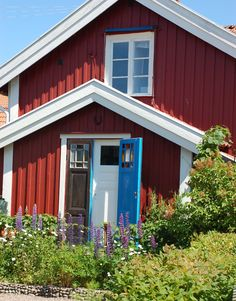 Little red house on the island Sandhamn.