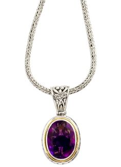 Cydonia 925 Sterling Silver and 18K Gold Amethyst Necklace in 2011 from Cydonia on shop.CatalogSpree.com, my personal digital mall.