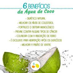 A água de coco, além de matar a sede faz bem à saúde!