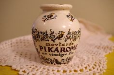 vintage french mustard pot // Moutarde Pikarome by simpletreasury, $20.00 #vintage #home