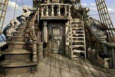 captains quarters pirate ship - Google Search