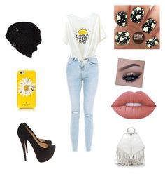 """""""School day"""" by mwelch06 ❤ liked on Polyvore featuring New Look, Christian Louboutin, Rebecca Minkoff, Kate Spade, UGG Australia and Lime Crime"""