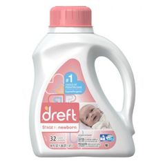 Dreft Stage 1 Newborn Liquid Laundry Detergent HE 50 Fl Oz 32 Loads 2 Count >>> Find out more about the great product at the image link. Cleaning Hacks, Cleaning Supplies, New Born Must Haves, Baby Laundry Detergent, Baby Supplies, Washing Clothes, Spray Bottle, Count