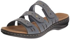 Clarks Women's Leisa Broach Dress Sandal *** Discover this special outdoor gear, click the image - Clarks sandals Clarks Sandals, Dress Sandals, Smooth Leather, Outdoor Gear, Slip On, Blue, Weekend Getaways, Stuff To Buy, Shoes