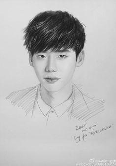 Lee Jong Suk, Jung Suk, Lee Jung, Kpop Drawings, Art Drawings Sketches, Pencil Drawings, W Two Worlds Art, Korean Painting, Korean Art