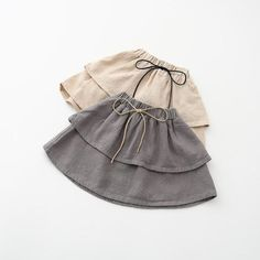 Girls Linen layer skirt by HarpersChicCloset on Etsy