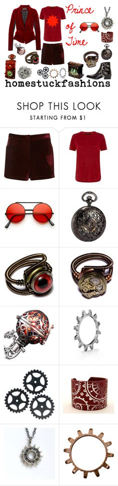 """Prince of Time"" by hollowzo ❤ liked on Polyvore featuring Marc by Marc Jacobs, Bulova, LowLuv and Toga"