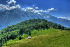 Wallpaper Germany Ramsau HDR Nature Mountains Forests Scenery Grasslands HDRI Meadow Landscape photography