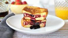 Take French toast to a new level by stuffing it with peanut butter and jelly!
