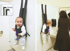 hanging carrier  great idea for travel with baby