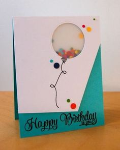 Happy Birthday Shaker Balloon {AE Challenge} (via Bloglovin.com )