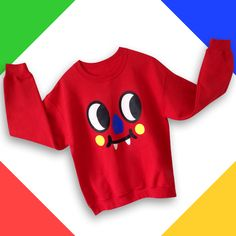 Blinky sweatshirt , perfect for the winter cold!! He match perfectly with his best friend Inky sweatshirt.
