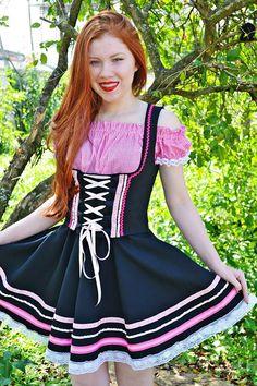 Traje tipico alemão feminino para oktoberfest.  whatsap: (47) 9 9942 - 9128 Instagram: valentinasfit