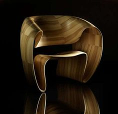 Ribbon Wood Chair - Beautiful Natural Furniture Chair Design by Tom Vaughn Recycled Furniture, Handmade Furniture, Unique Furniture, Furniture Design, Furniture Styles, Eames, Natural Furniture, Design Tisch, Love Chair