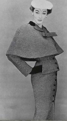 Model wearing an ensemble by Lanvin for L'Officiel, 1953.♛   ♛~✿Ophelia Ryan ✿~♛