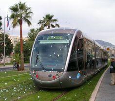 Bombardier  tram in Marseille (France)