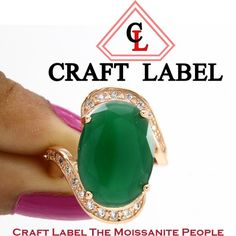 """4.00 Ct Oval Shape Green Emerald 14 Gold Solitaire Bypass Engagement Ring """"Mother\'s Day Gift"""". Starting at $1"""