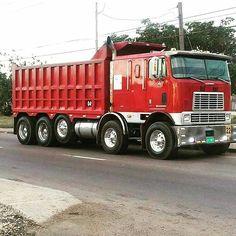 Coe International Eagle custom tri axle twin steer dump Heavy Duty Trucks, Big Rig Trucks, Heavy Truck, Dump Trucks, Dodge Trucks, New Trucks, Custom Trucks, Cool Trucks, Pickup Trucks