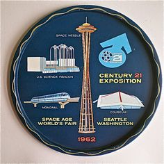 1962 Seattle World's Fair tray..I have this :)
